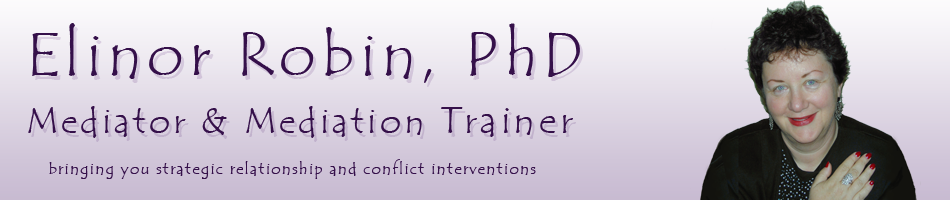 Elinor Robin, PhD – Mediator and Mediation Trainer